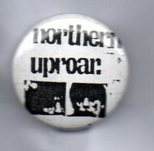 NORTHERN UPROAR BUTTON BADGE BRITISH ROCK BAND Livin' It Up 90s 25mm PIN