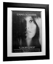 EMMYLOU HARRIS+Luxury Liner+POSTER+AD+FRAMED+RARE ORIGINAL 1977+FAST GLOBAL SHIP