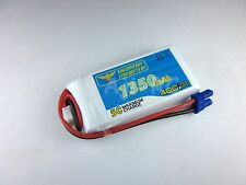 New HobbyZone Delta Ray Firebird Stratos 1350mah 7.4V 40C Lipo Battery w/EC2