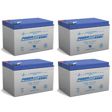 Power-Sonic 4 Pack - 12 Volt 12ah Ebike Electric Scooter Battery E-Bike Boreem