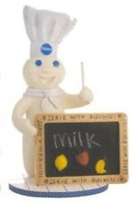 Pillsbury Ceramic Doughboy Figure with Magnetic Chalkboard and 3 Magnets