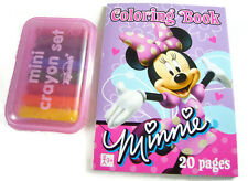 Crayons + Minnie Mouse Coloring Book for Bitty Baby Dolls + Twins