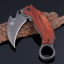 Karambit Claw folding knife self-defense Tactical Survival Hunting 5CR13MOV