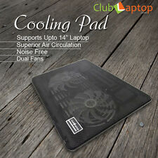 "Clublaptop N10 Laptop Cooling Pad Stand For 13.3"" 14"" Laptops-LED Light(Black)"