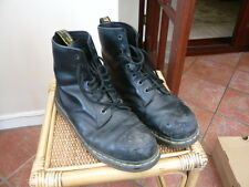 GENUINE VINTAGE DR MARTENS BLACK WORK BOOTS STEEL TOE CAP DMS INDUSTRIAL SIZE 11