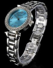 Kleine Jay Baxter Women Damen Watch analoge Strass Damenuhr Quartz Silber / Blau