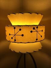 Mid Century Vintage Style Tapered 3 Tier Fiberglass Lamp Shade Modern Small IV