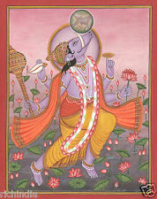 Vad God Varaha Vishnu Avatar Miniature Painting Hand Painted Hindu Artwork_AR925