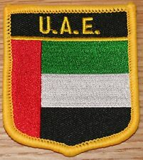 UAE United Arab Emirates Shield Country Flag Embroidered PATCH Badge P1