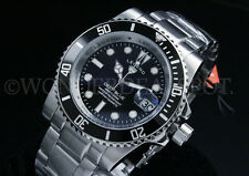 NEW Legend Men's Deep Blue 200M Blk Dial Miyota 2315 Calibar S.S Bracelet Watch