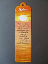 BOOKMARK HELEN Name Meaning CHRISTMAS Stocking BIRTHDAY Thankyou Gift Present