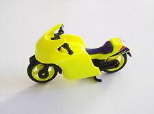 PLAYMOBIL (S221) RACING - Moto de Course Noir Jaune Fluo sans Autocollant 3779