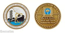 """NAVY NAVAL SUBMARINE BASE NEW LONDON FIRST AND FINEST 1.75"""" CHALLENGE COIN"""
