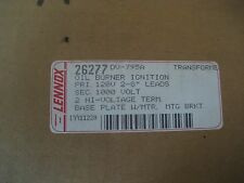 NEW Lennox Oil Burner Ignition Transformer w/ base plate 1000V # 26277  DV-795a