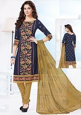 Elegant Crepe Printed Unstitched Dress Material Suit D.No AM1512