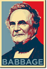 CHARLES BABBAGE PHOTO PRINT POSTER GIFT (OBAMA HOPE)