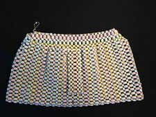 Vintage Mod 1960's Painted Pastel (Easter Egg) Wood Beads - Women's Clutch Purse