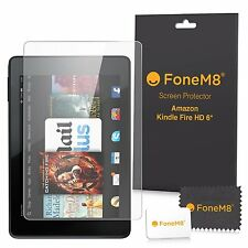 "3 PACK FONEM8 SCREEN PROTECTORS FOR KINDLE FIRE HD 6 6"" TABLET"