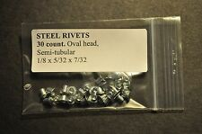 30, 1/8 X 5/32 RIVETS FOR TONKA TOYS ,BEST VALUE!! DO THE MATH!! SAVE$$$