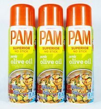 3 PAM Superior No-Stick Cooking Spray Extra Virgin Olive Oil PURELY OLIVE OIL