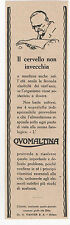 Pubblicità epoca 1931 OVOMALTINA WANDER MILANO old advertising werbung publicitè
