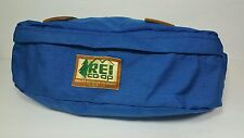 Vtg Blue REI Fanny Pack Leather Lashtabs Quality Outdoor Equipment Made USA