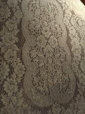 Vintage Beautiful Cotton  Lace Panel For Tablecloth, Curtains, Drapery Or Crafts