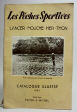 """RARE 1954 SPORT FISHING Illustrated Catalog """"Les Pêches Sportives"""" Rods Reels..."""