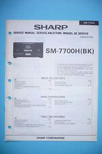 Service-manual-instrucciones para Sharp sm-7700h, original