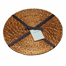 Kitchen Craft 35cm Artesa Round Bamboo Rattan Table Serving Mat Placemat ARTMAT