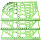 Great Plastic Circles Geometric Building Template Ruler Stencil Measuring Tool