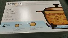 VISIONS 4-pc glass amber Cookware Set, bake, stove, glass top stove, oven, bake