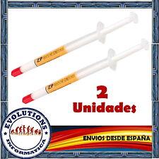 2 UNIDADES PASTA TERMICA SILICONA 1GR CALIDAD PARA PROCESADORES PC XBOX PS3 MAC