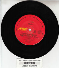 "AC/DC ACDC That's The Way I Wanna Rock 'N Roll 7"" 45 rpm record + jukebox strip"