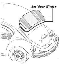 VW Rear Window Seal for T1 Beetle Cal Look Bug 1200-1600 Classic Aircooled 1302
