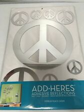 Peace Sign Mirror Wall Sticker Art DIY Home Modern Decal DECOR Repositionable