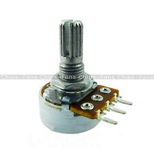 10PCS B500K OHM Linear Taper Rotary Potentiometer 3 Pin 15MM Shaft With Nuts New