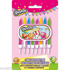 Shopkins CAKE CANDLE DECORATION KIT 9/Pkg Birthday Party Supplies free shipping