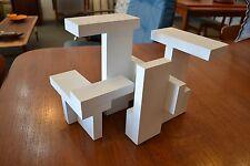 Mid Century architectural wood sculpture, Bauhaus, Gropius, F.L. Wright