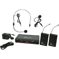 Galaxy Audio EDXR/38SV Headset Lavalier Microphones Dual UHF Wireless System D