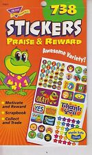Lot of 18 NEW Praise & Reward Stickers Booklet 738 Stickers Per Book T-5011 EY39