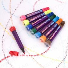 8 PIECE COLOURING ROLLER STAMP FELT TIP PEN SET Duo Ended Stampers/Marker/Colour