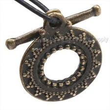 30pcs Hotsale Vintage Antique Bronze Zinc Alloy Ring Sun IQ Toggle Clasp Charm J