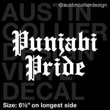 """6.5"""" PUNJABI PRIDE vinyl decal car window laptop sticker - desi india gift"""