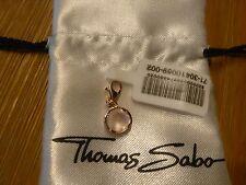 THOMAS SABO Charm Anhänger Silber vergoldet mit Stein rund Rosenquarz 49€ *NEU*