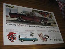 1964 Print Ad 1965 Rambler Ambassador 990 American Motors