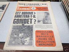 FRANCE FOOTBALL 1275 (09/70) GONDET ANGOULEME METZ