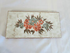 """Red Clay Tile (s) from Spain Floral Design 7 7/8"""" x 4"""""""