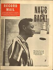 RECORD MAIL NEWSPAPER 1963 07 JULY nat king cole/bobby darin full-page picture