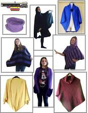 easy knit Poncho Shrug Ruana & Afghan knitting machine patterns on CD